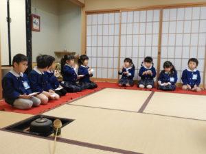 画像:2月26日(水)☆年中ひまわり組お茶のおけいこ参観☆