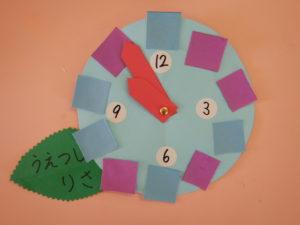 画像:年少組 ~こいのぼり、時計製作~