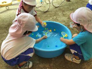 画像:7月3日(金) 年少組 夏祭り&7月のお誕生会