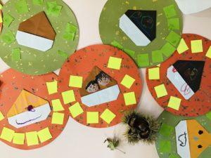 画像:10月9日(金)うめ組の壁面作り&すみれ組のかるた遊び