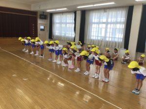 画像:10月2日(金)☆年長組の体操&製作遊び