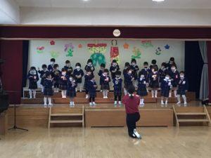 画像:2月10日(水) 年長・年少 発表会予行練習