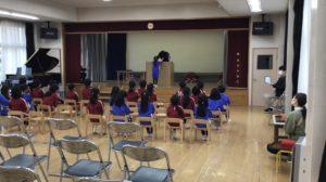 画像:3月8日(月)卒園式の練習