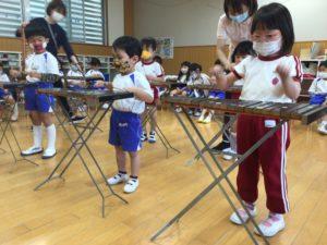 画像:5月10日(月)年中さくら組 木琴遊び