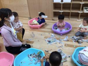画像:7月1日(木)♪1歳児つくし組の様子♫