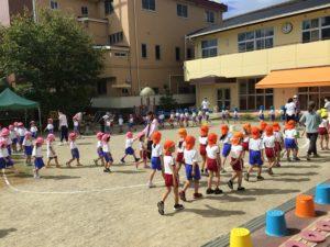 画像:9月22日(木) 運動会セレモニー練習の様子