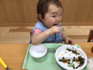 画像:9月28日(火)1歳児クラスの1日の様子